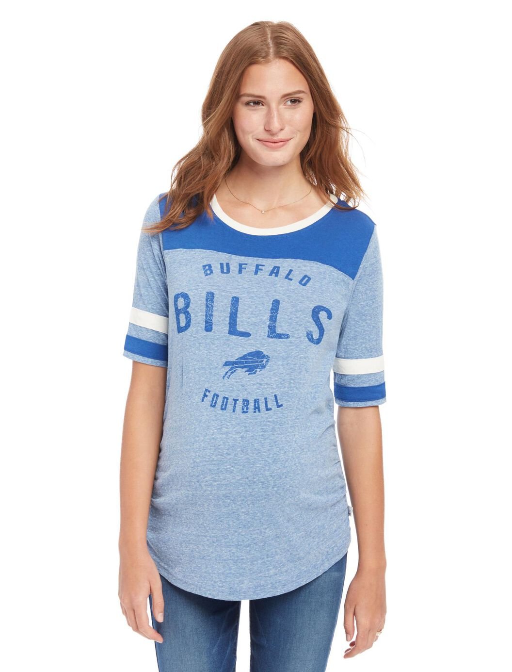 Buffalo Bills NFL Elbow Sleeve Maternity Graphic Tee at Motherhood Maternity in Victor, NY | Tuggl
