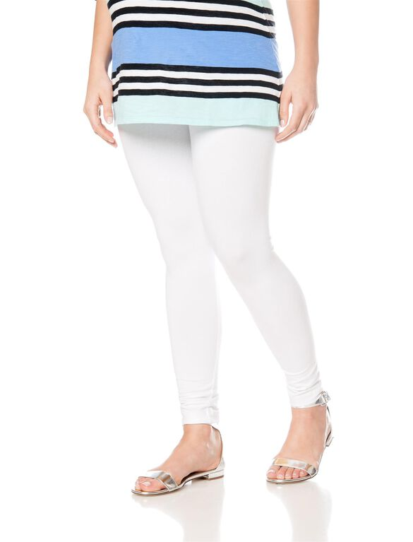 Secret Fit Belly Maternity Leggings, White
