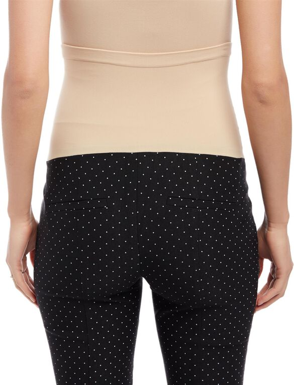 Secret Fit Belly Skinny Ankle Maternity Pants, Black/White Dot