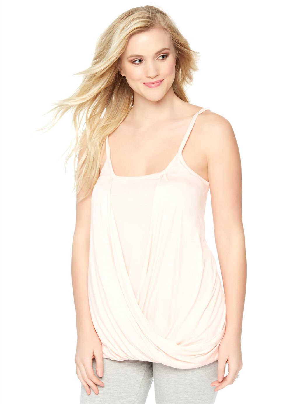 Drape Front Nursing Tank at Motherhood Maternity in Victor, NY | Tuggl
