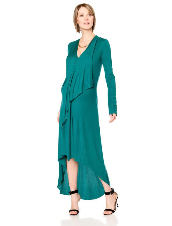 BCBGMAXAZRIA Draped Knit Maternity Dress, Green