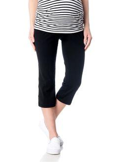 Secret Fit Belly Straight Leg Maternity Yoga Pants, Black