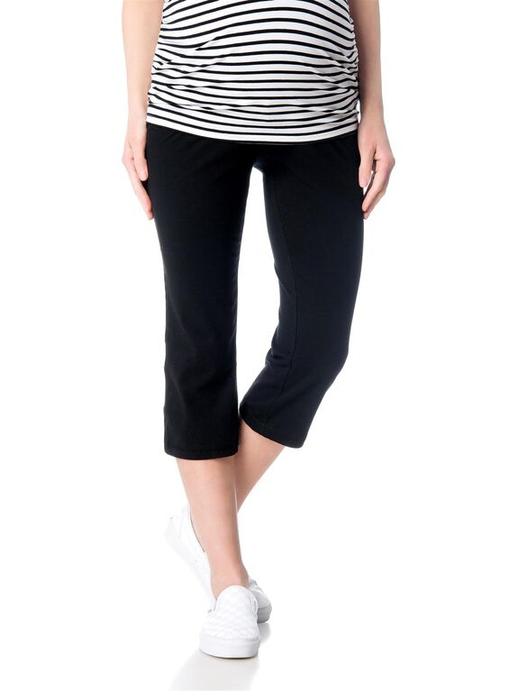 Secret Fit Belly Straight Leg Maternity Yoga Pants, Black