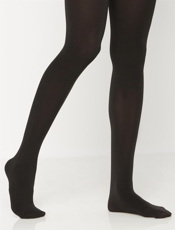 Opaque Maternity Tights, Black1