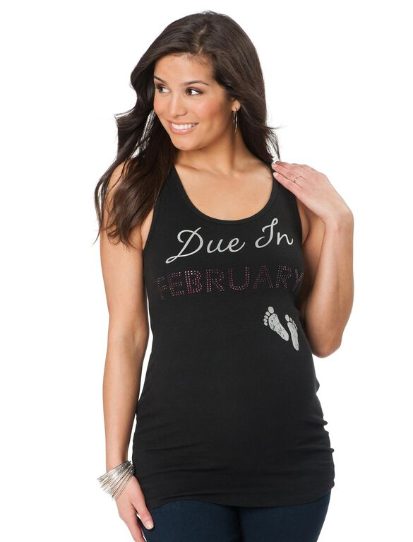 Due In February Maternity Tank Top, 02-february