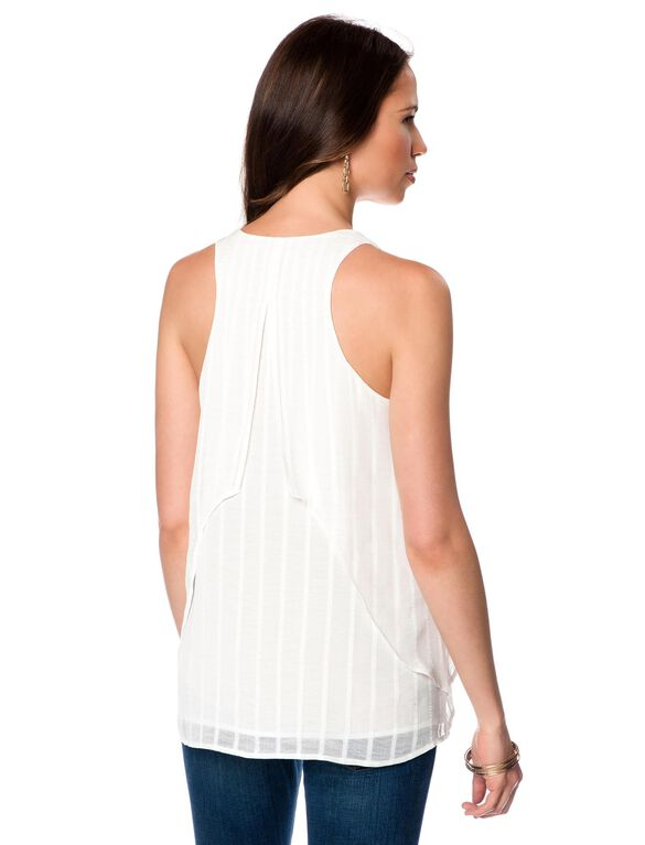 Soft Top Maternity Tank Top, Ivory