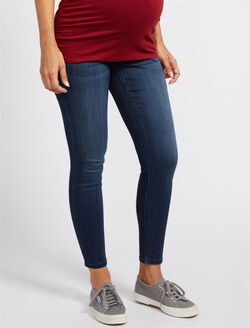 Secret Fit Belly Skinny Jegging Maternity Jeans, Dark Wash
