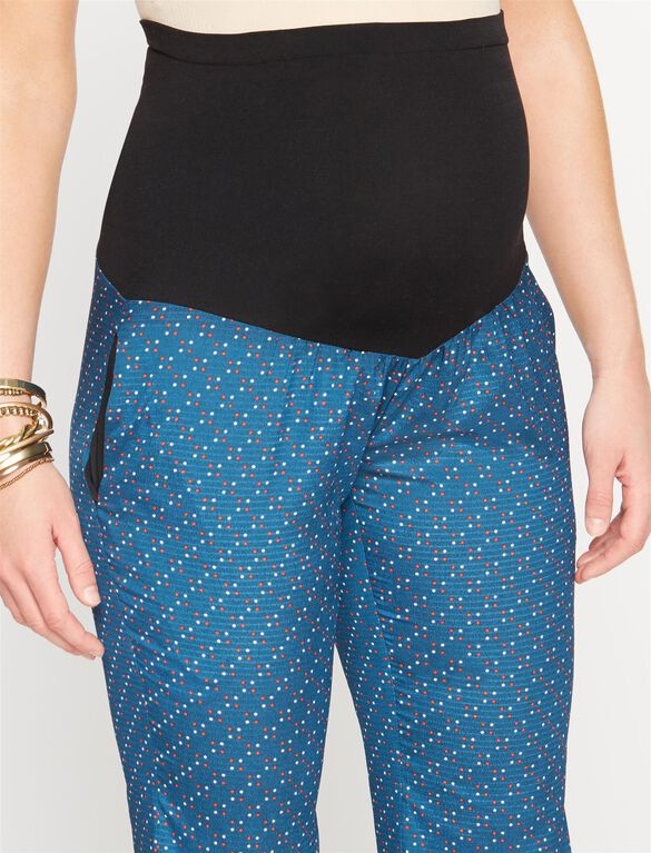 Rachel Zoe Secret Fit Belly Cotton Wide Leg Maternity Pants, Print