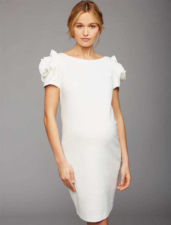 Pietro Brunelli Ruffled Maternity Dress, White