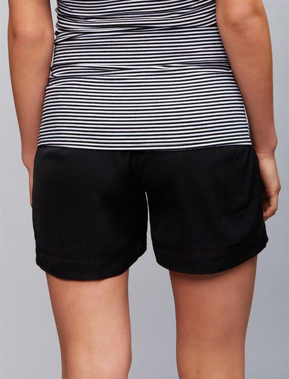 Secret Fit Belly Swing Maternity Shorts, Black