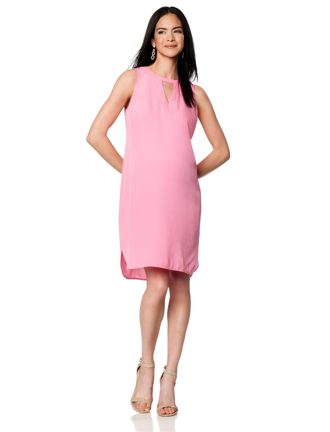 Charlie jade keyhole detail maternity dress destination maternity charlie jade keyhole detail maternity dress pink ombrellifo Image collections