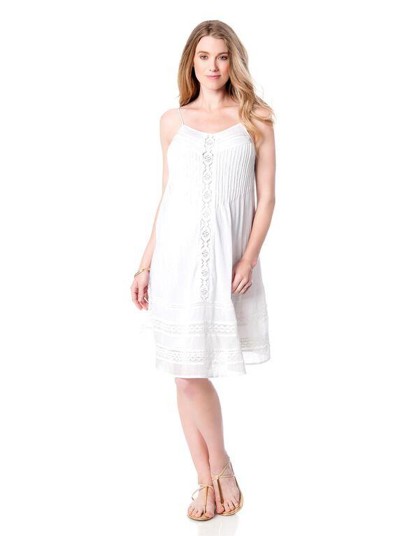 A-line Maternity Dress, White