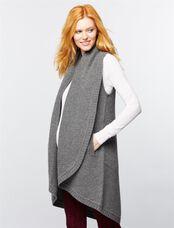 Splendid Open Front Maternity Vest, Dove Grey