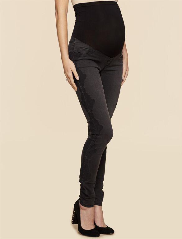 Jessica Simpson Secret Fit Belly Skinny Leg Maternity Jegging, Black