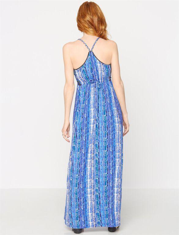 Ella Moss Braided Strap Maternity Maxi Dress, Multi Print