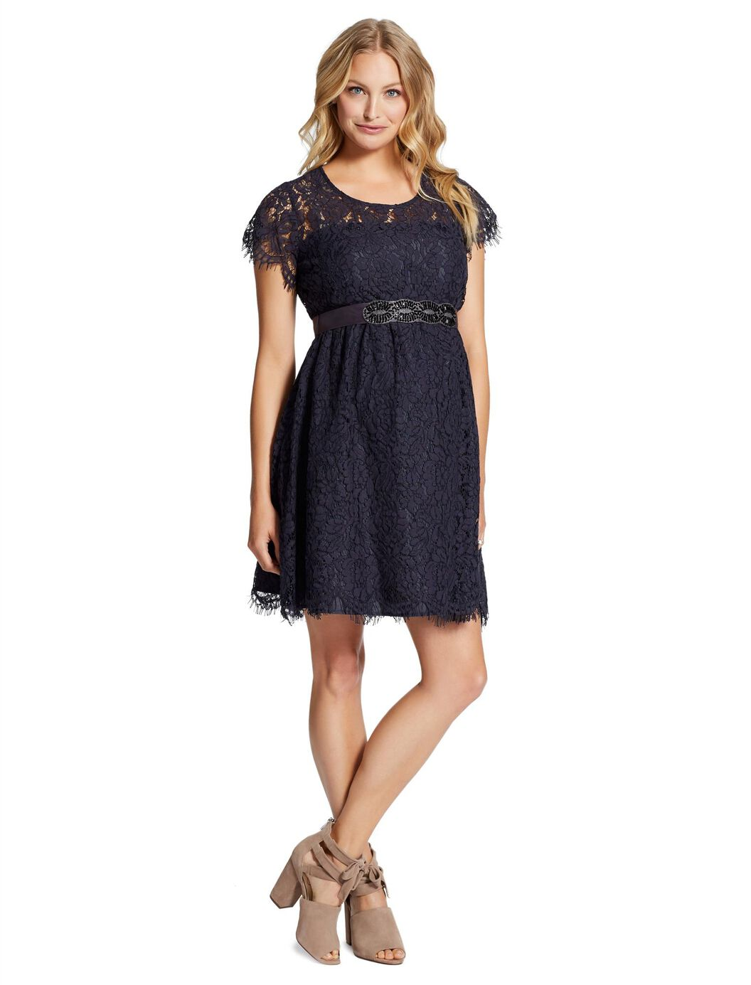 Jessica simpson belted maternity dress motherhood maternity jessica simpson belted maternity dress navy ombrellifo Gallery