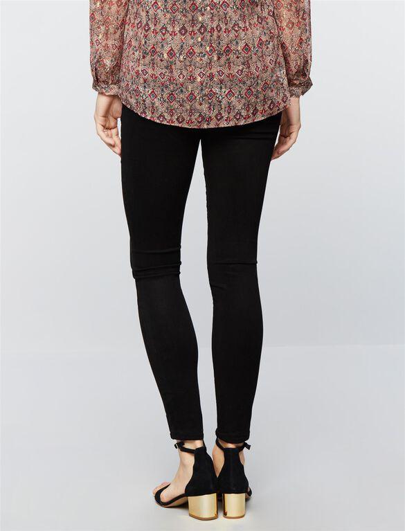 J Brand Under Belly Skinny Leg Maternity Jeans- Black, Black.