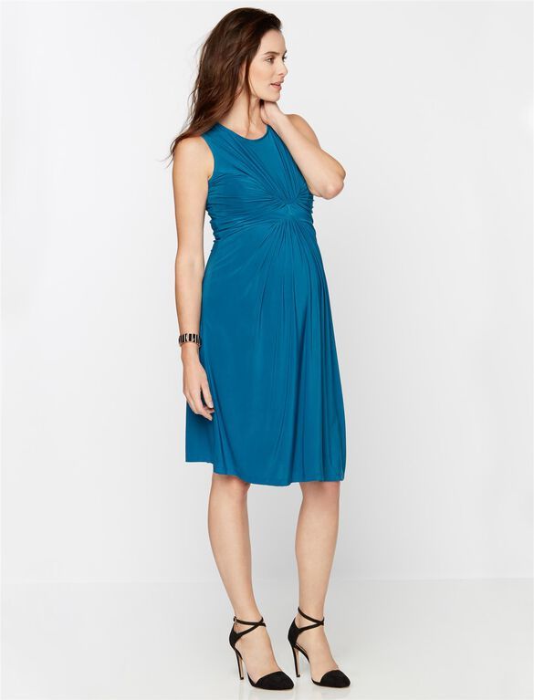 Isabella Oliver Maybury Maternity Dress, Dark Teal