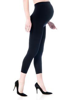 Seamless Maternity Crop Legging, Black