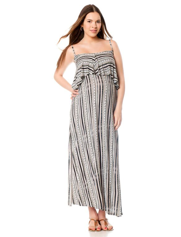 Drape Maternity Dress, Print