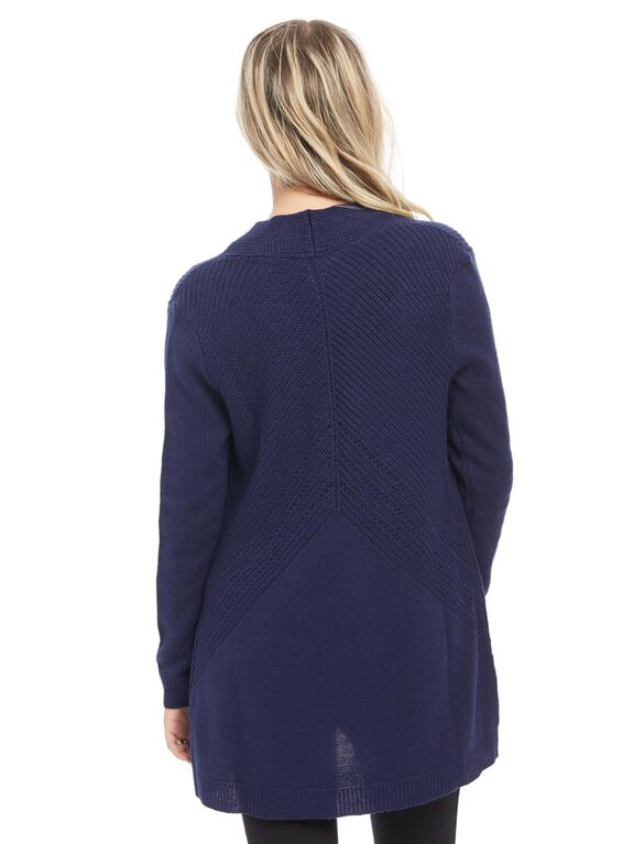 Open Front Maternity Cardigan, Navy