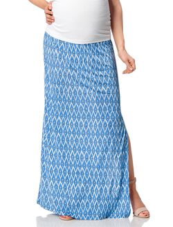 No Belly Maternity Skirt, Multi Print