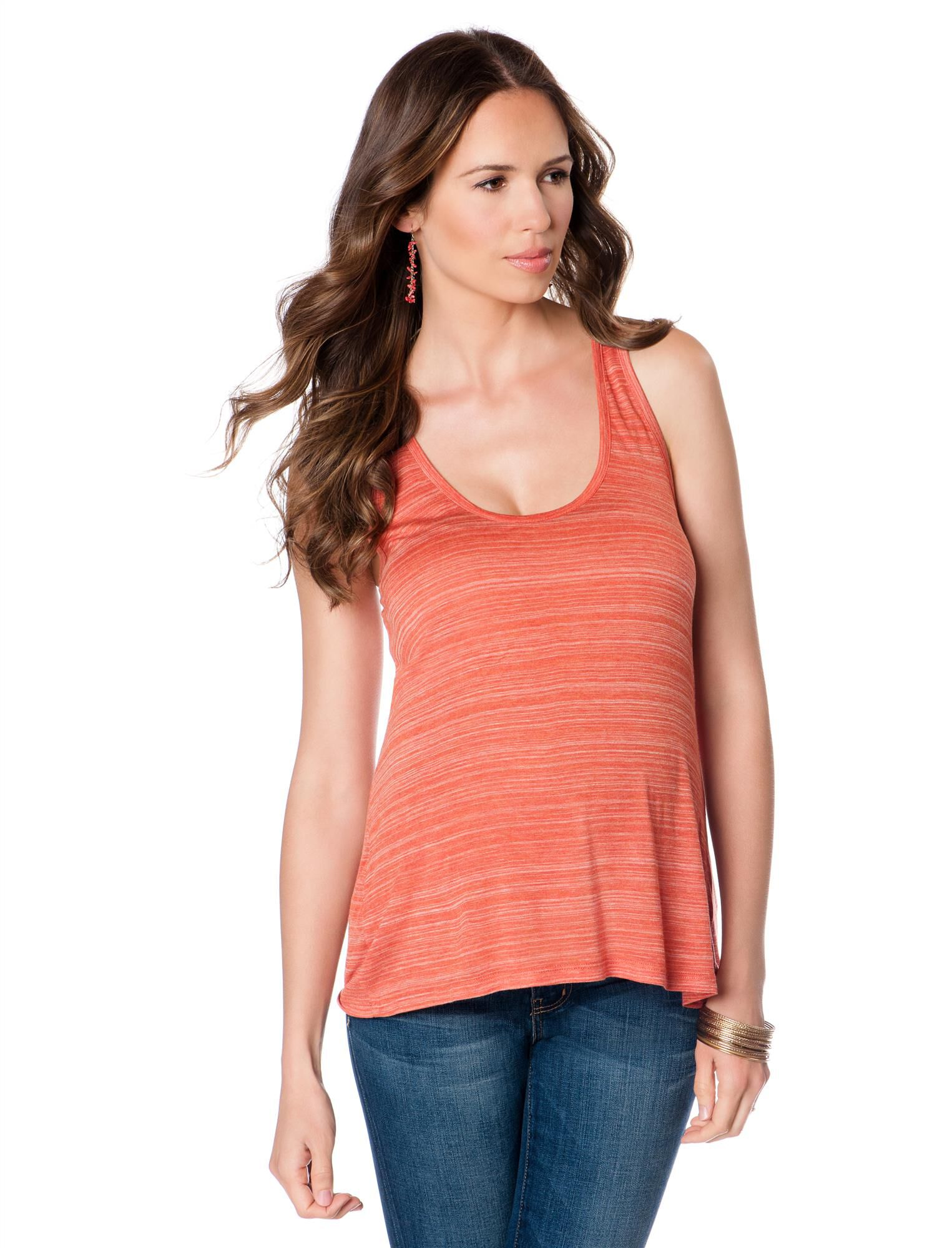 Vince Maternity Tank Top - Striped