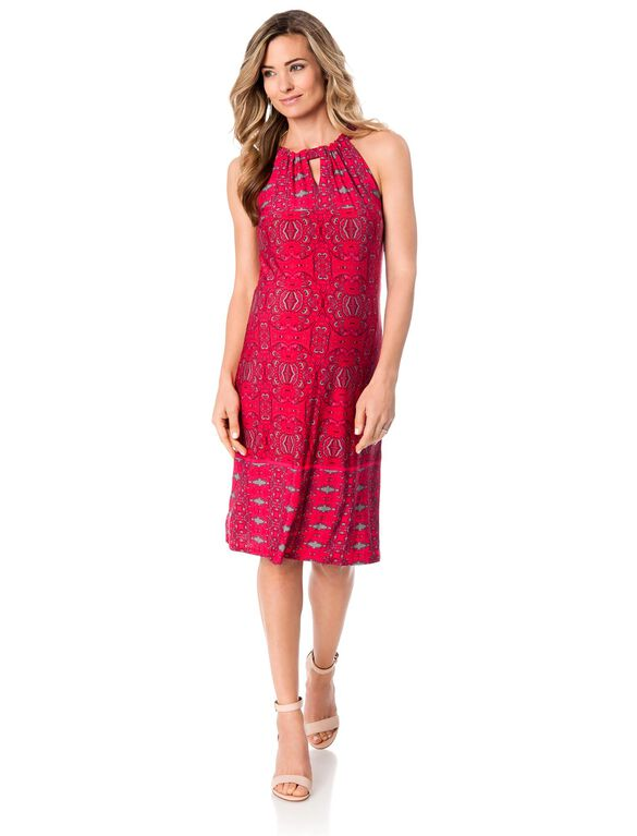 Taylor Tie Detail Maternity Dress, Pink