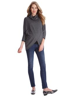 Lift Up Poncho Nursing Top, Grey