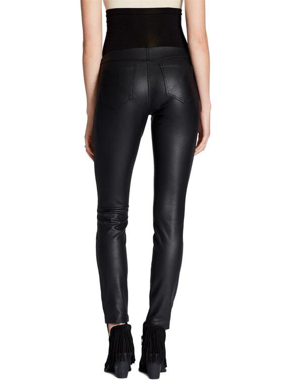 Jessica Simpson Secret Fit Belly Faux Leather Maternity Leggings, Black