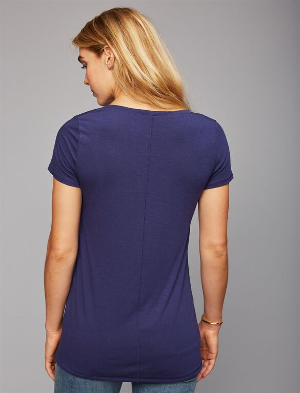 Allergic To Mornings Maternity Tee, Navy