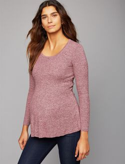 Bow Detail Maternity Sweater, Deco Rose Heather
