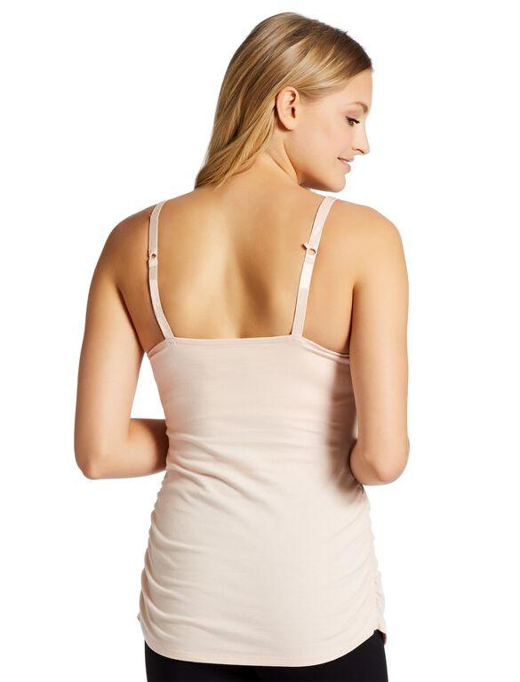 Jessica Simpson Clip Down Shelf Bra Nursing Cami- Solid, Pink