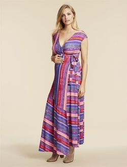 Jessica Simpson Maternity Dress, PINK MULTI STRIPE