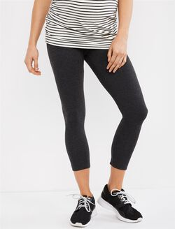 Secret Fit Belly Maternity Crop Leggings- Grey, Charcoal