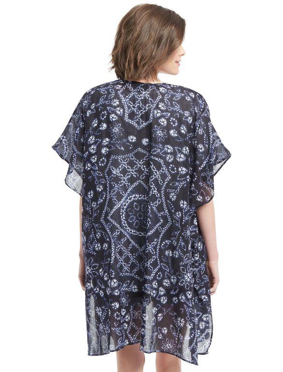 Wendy Bellissimo Lightweight Maternity Kimono- Blue/White, Blue/White