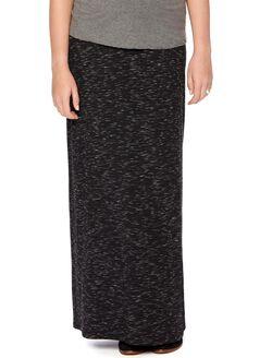 Secret Fit Belly Spacedye Maternity Maxi Skirt, Black