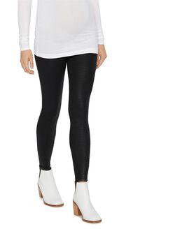 David Lerner Secret Fit Belly Modal Maternity Leggings, Black