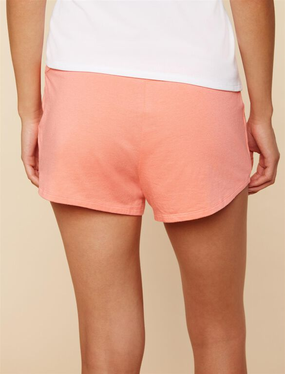 Relaxed Fit Maternity Sleep Shorts- Shell Pink, Shell Pink