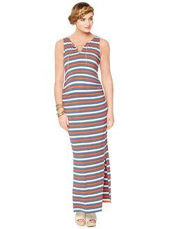 Rachel Zoe Sleeveless V-neck Maternity Maxi Dress, Stripe