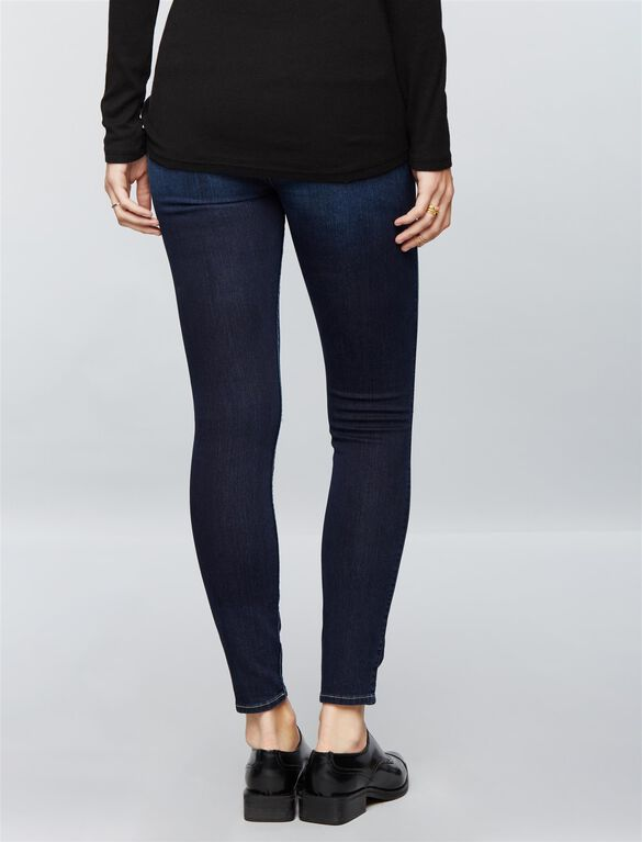 7 For All Mankind Secret Fit Belly b(air) Ripped Ankle Skinny Maternity Jeans, Dark Canterbury
