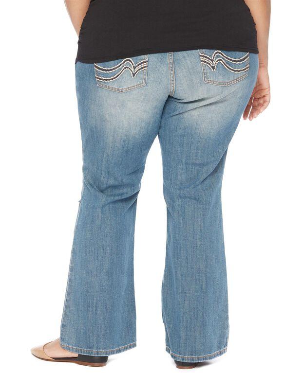 Plus Size Secret Fit Belly Boot Cut Maternity Jeans, Sunset Medium Wash