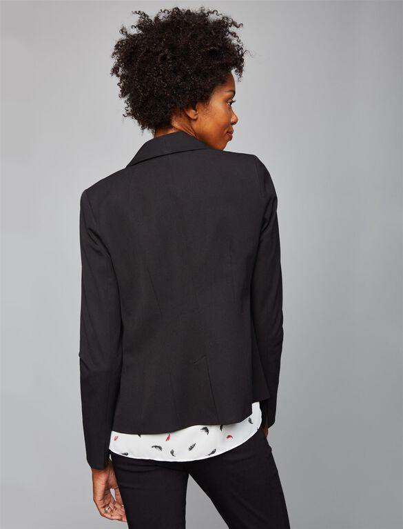 Shawl Collar Maternity Blazer, Black
