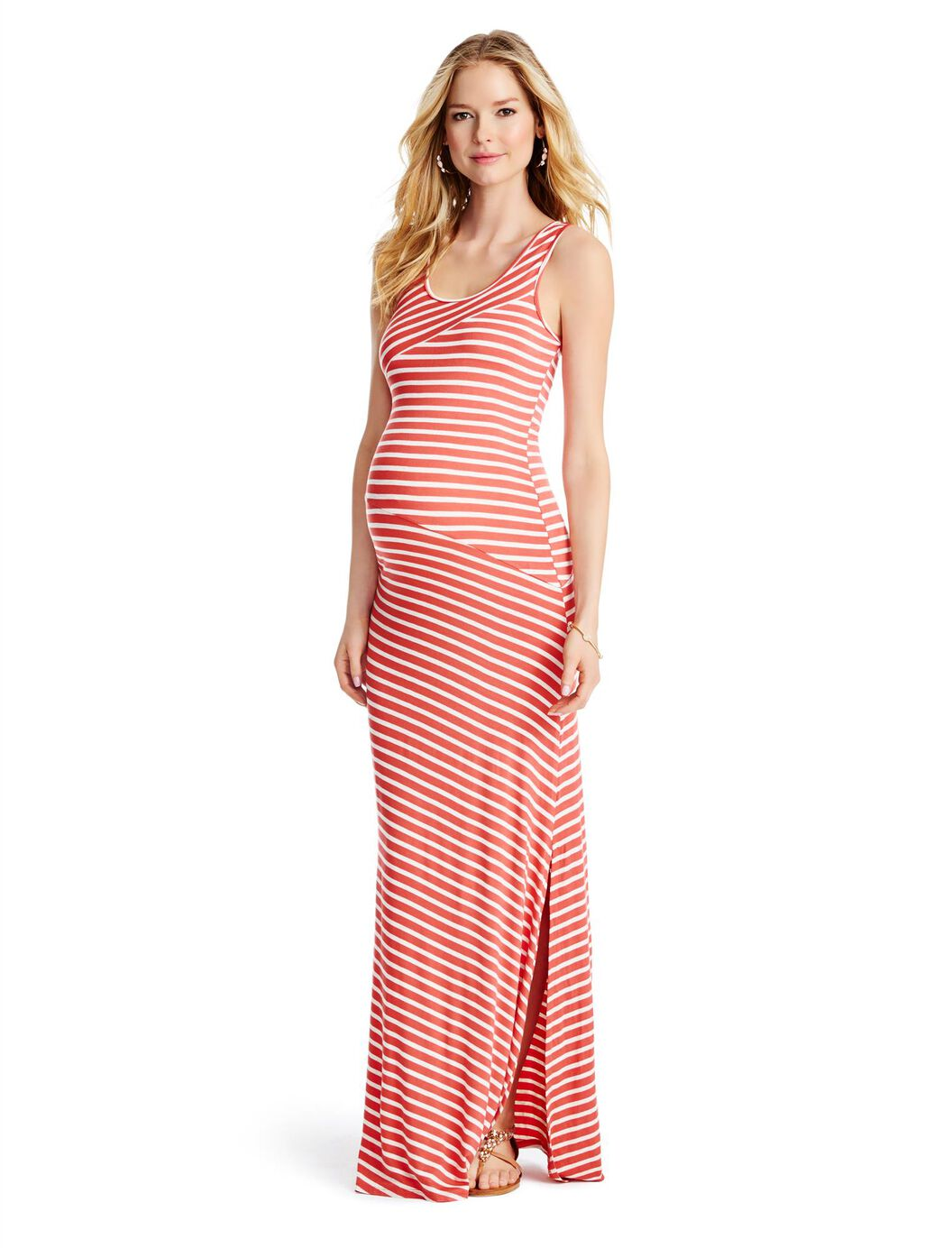 Jessica simpson pleated maternity maxi dress motherhood maternity jessica simpson pleated maternity maxi dress orange stripe ombrellifo Image collections