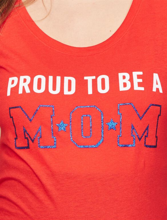 Proud To Be A Mom Maternity Tee, Red