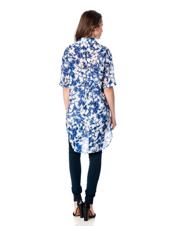 Rebecca Minkoff Maternity Tunic, Blue Print