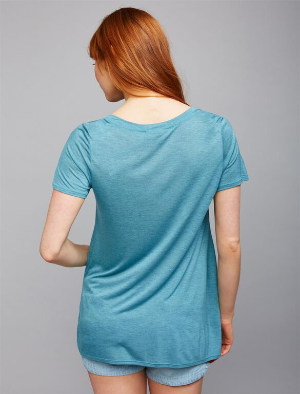 A-line Maternity Tee, Tranquil Turquoise
