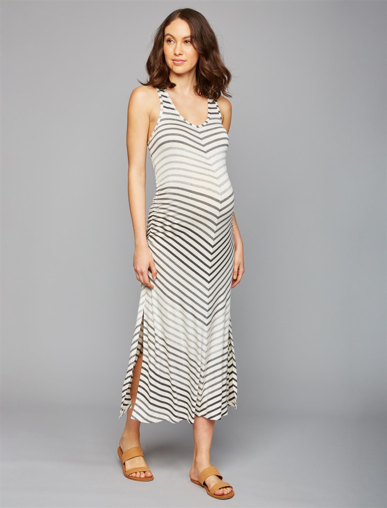 Beyond The Bump Striped Maternity Dress