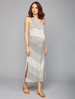 Beyond The Bump Striped Maternity Dress, OMBRE STRIPE