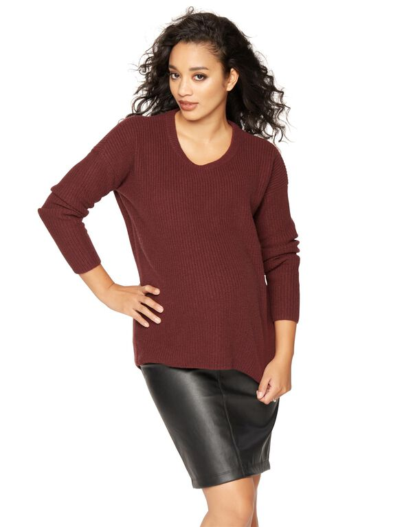 Vince Cotton Cashmere Maternity Sweater, Wysteria